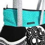 Turquoise Black and White P..