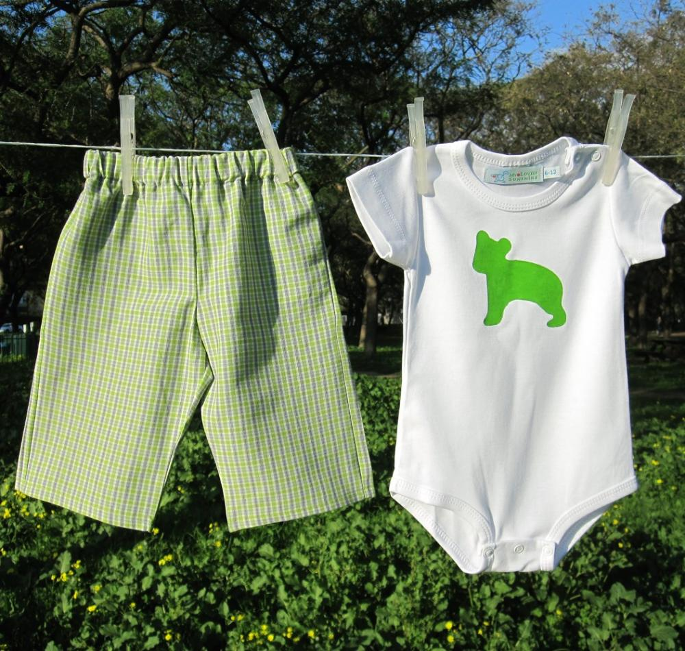 Baby Clothing Set - Green Bear